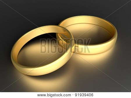 Two Wedding Gold Rings