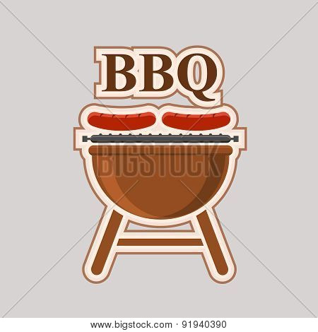 Barbecue party vector element poster