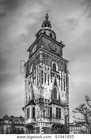 Antique Town Hall In Cracow, Poland