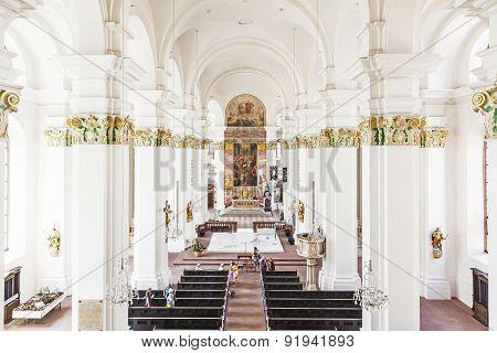 People In Jesuiten Church In Heidelberg