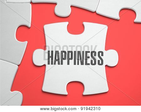 Happiness - Puzzle on the Place of Missing Pieces.
