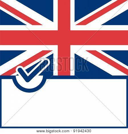 Voting Symbol United Kingdom Flag