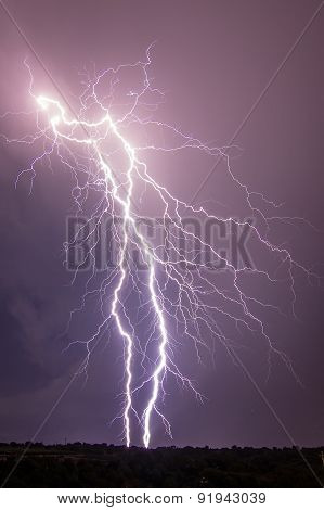 Thundebolts and lightnings in a stormy night