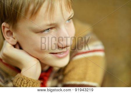 Portrait of happy boy