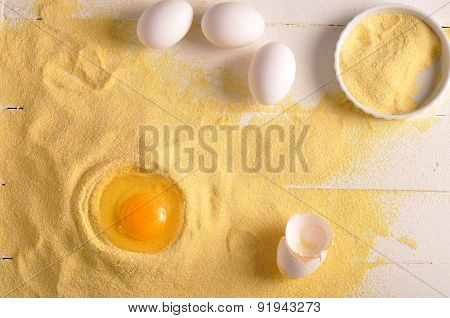 Eggs And Corn Flour For Delicious Cookies
