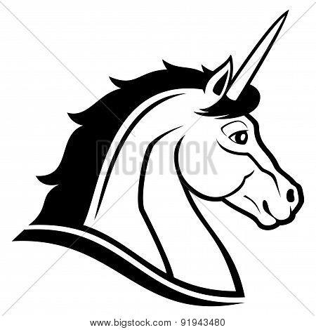 Vector sign. Unicorn.
