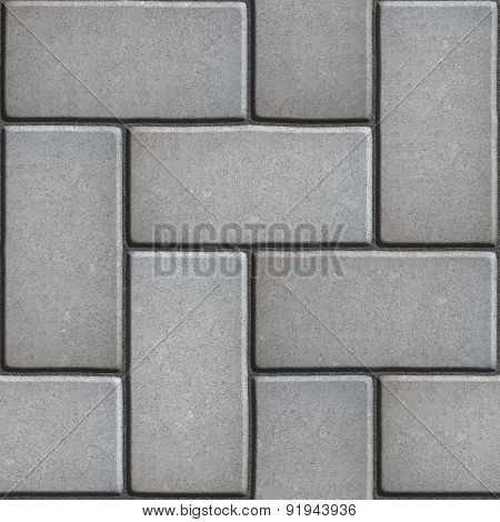 Gray Paving of Sidewalk Slabs Rectangles.