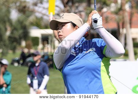 Shanshan Feng At The Ana Inspiration Golf Tournament 2015