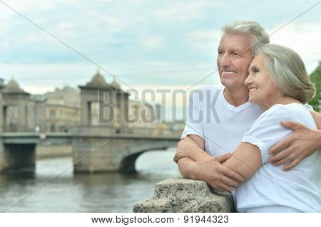Amusing elderly couple