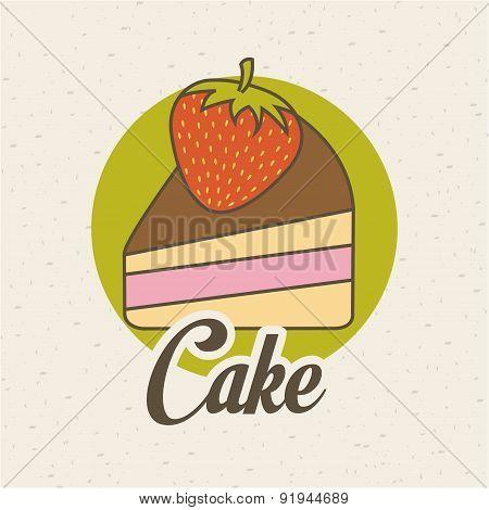 Food design over beige background vector illustration