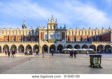 View Of Main Market Square From Cloth Hall Building