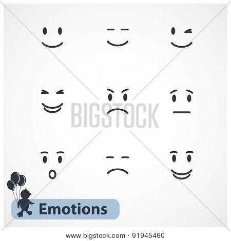 Faces emotions