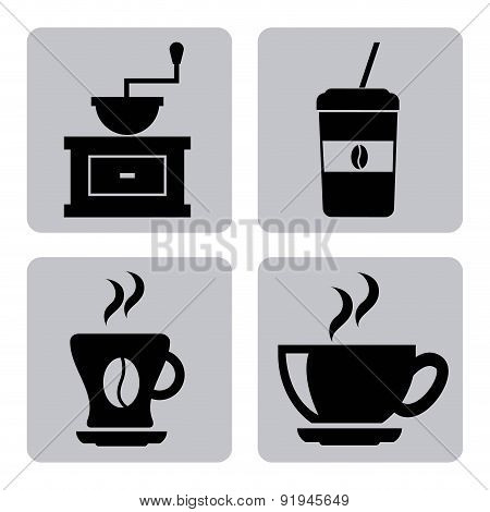 Coffee design over gray background vector illustration