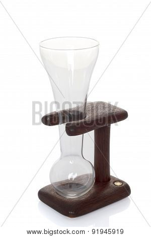 Unique wineglass. When drinking makes funny croaking sound