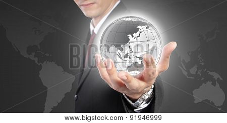 The World In Your Hand. A Conceptual Business Image