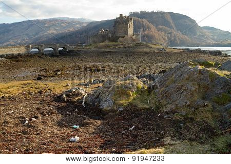 Kyle Of Lochalsh, Scotland - Circa March 2013: A View Of Eilean Donan Castle