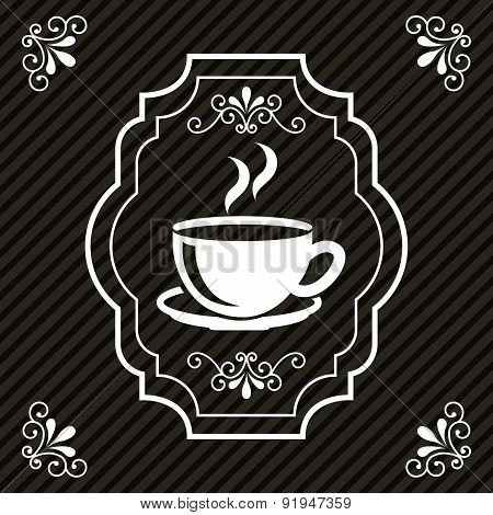 Coffee design over black background vector illustration