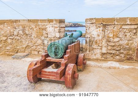 As-Sawira, Morocco - cannon on ramparts of Skala de la Ville