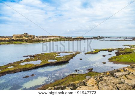 As-Sawira, Morocco - Iles Purpuraires, with Mogador island in the background seen from the ramparts