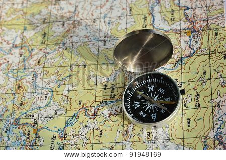 Compass And A Map