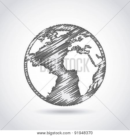 Ecology design over gray background vector illustration