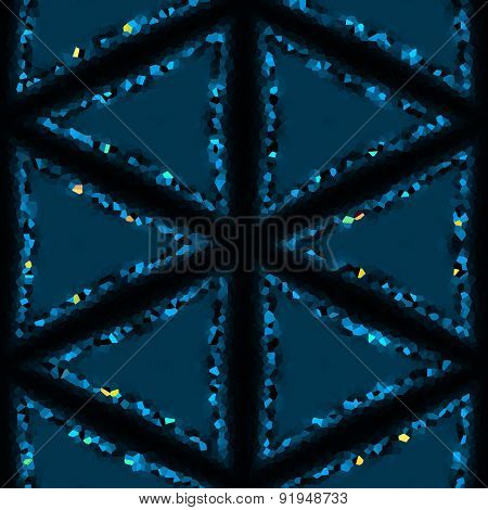 Crystallized Abstract Snow Flake Or Diamond Crystals Made Seamless