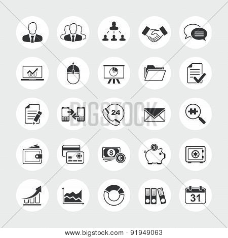 Business total vector icon set