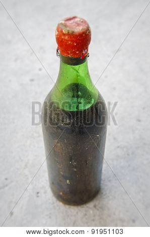 Old wine bottle
