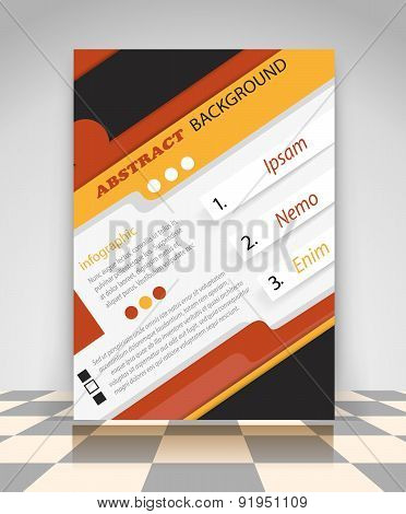 Orange And Black Business Flyer