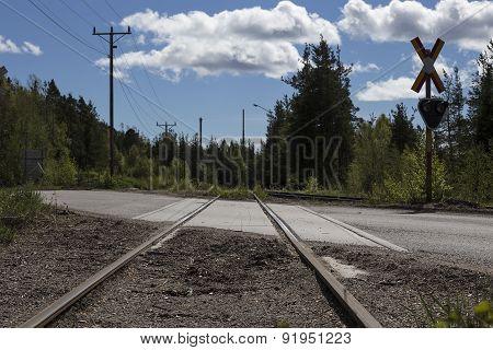 The railway crossing