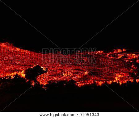 volcanic wildfire