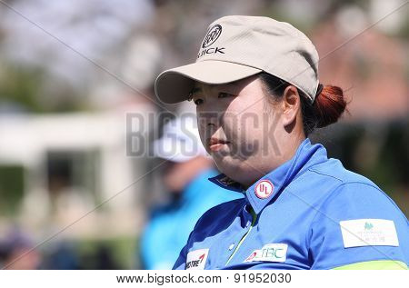 Shanshang Feng At The Ana Inspiration Golf Tournament 2015
