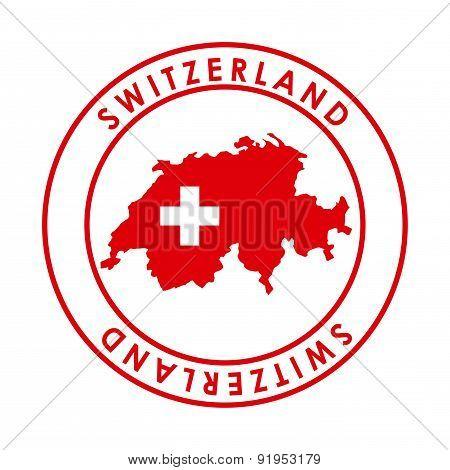 Switzerland Seal over white background vector illustration