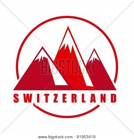 Swiss design over white background vector illustration