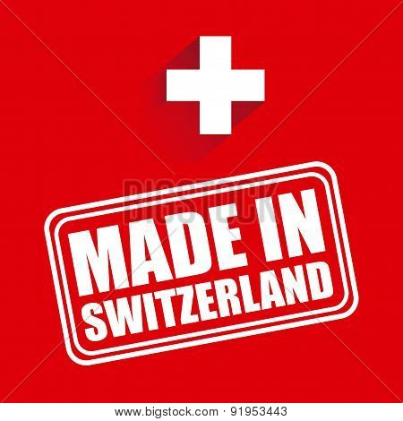Swiss design over red background vector illustration