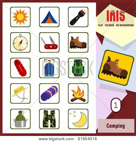 Iris Icons - Camping 1. Flat Colored Icons
