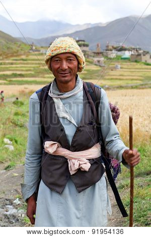 Gurung man in Dolpo, Nepal
