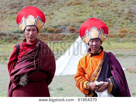 Tibetan Monks In Dolpo, Nepal