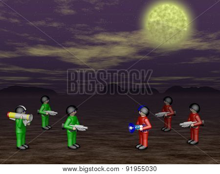 Toy Soldiers In Dark Land