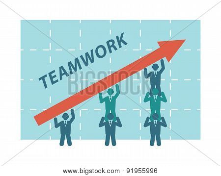 Teamwork of business people