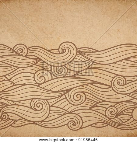 Waves On Cardboard