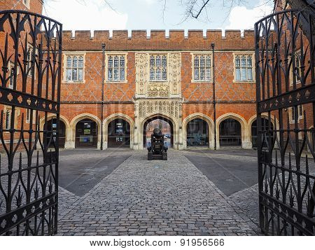 Cannon Yard At Eton School