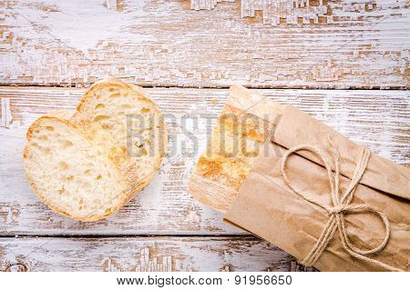 Fresh French Baguette With Slices