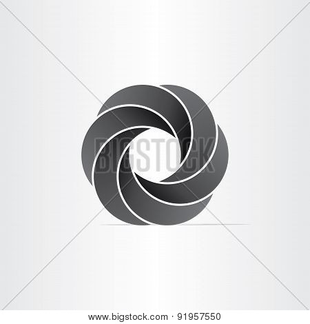 Abstract Black Impossible Symbol
