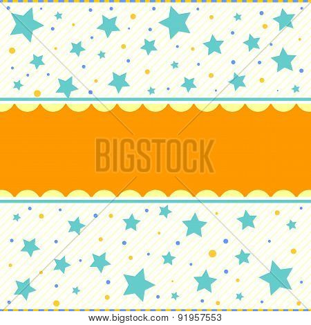 Colorful background with stars dots and stripes