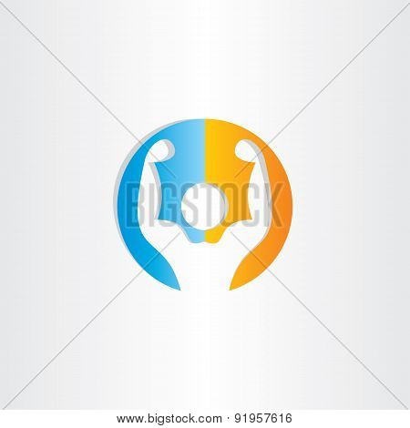 Bodybuilder Icon Gym Symbol
