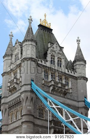 Tower of the Tower Bridge in London