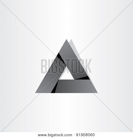 Black Triangle Abstract Geometry Symbol