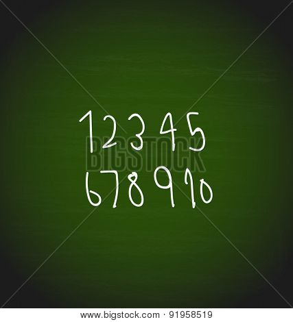 Hand drawing Numbers design, vector illustration.