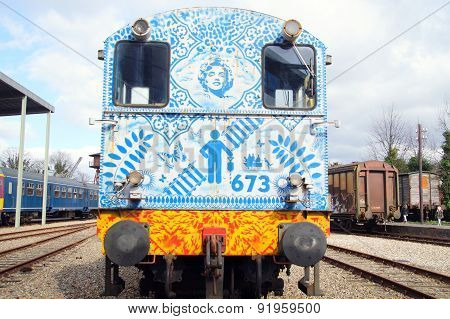 NS Class 600 diesel shunting locomotive - back